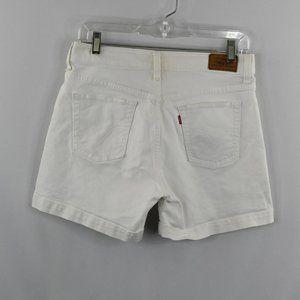 Levis 515 White Denim Shorts SZ: 6